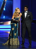 Connie Britton presented an award alongside Blair Underwood.