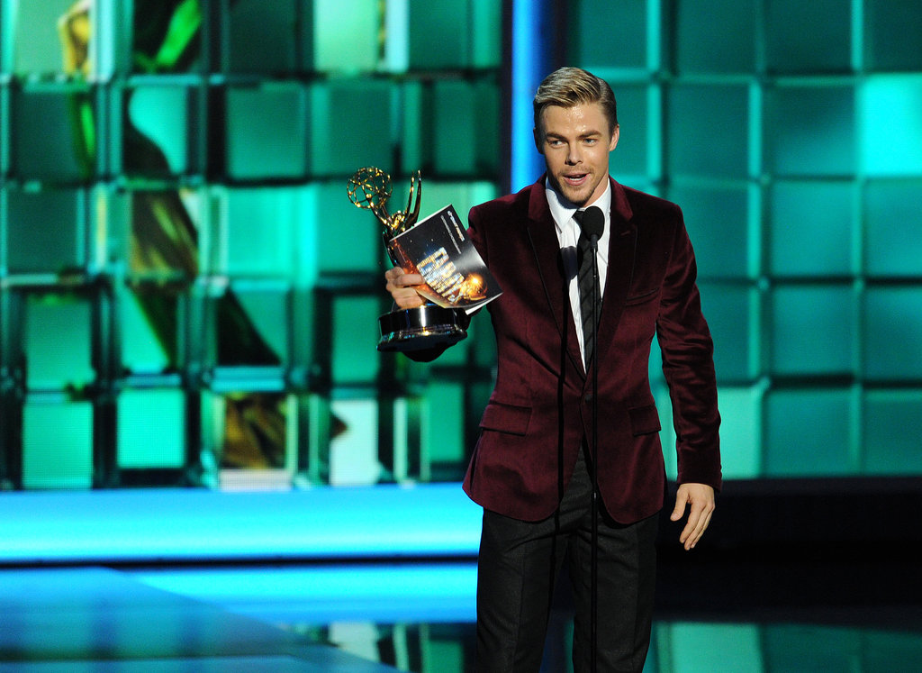Handsome Derek Hough accepted the award for outstanding choreography for his work on Dancing With the Stars.