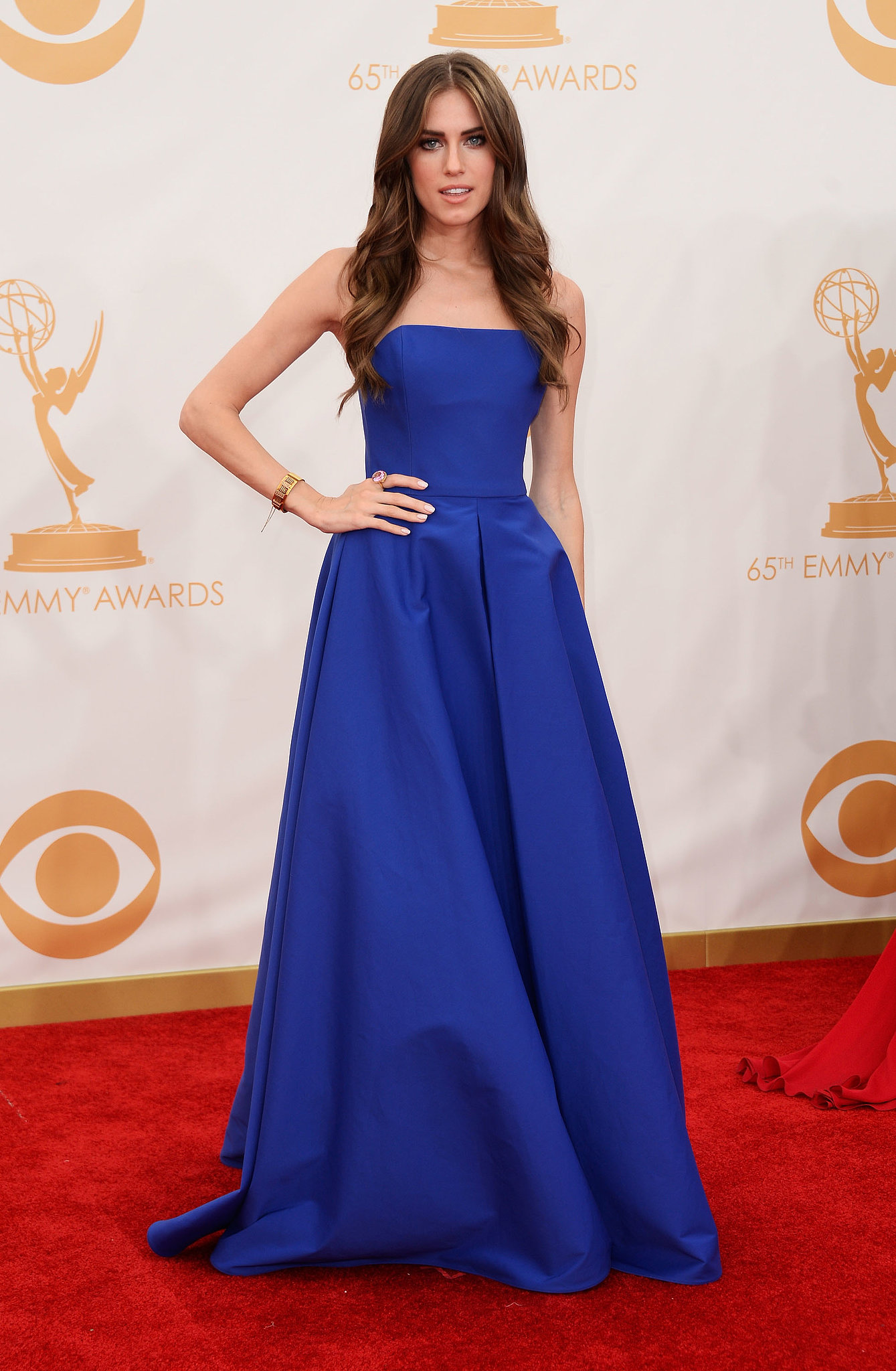 Girls star Allison Williams attended the Emmys.