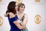 Lena Dunham gave her mom, Laurie Simmons, a big hug on the Emmys red carpet.