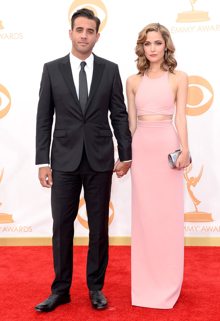 Bobby Cannavale and Rose Byrne held hands on the Emmys red carpet.