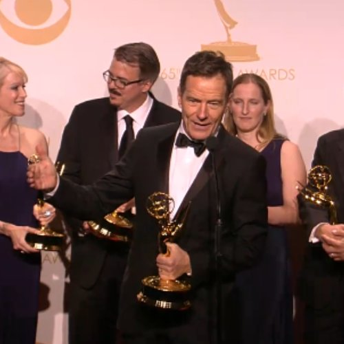 Breaking Bad Cast Backstage at Emmy Awards 2013 | Video