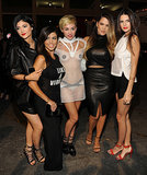 Miley Cyrus met up with Kourtney Kardashian, Khloé Kardashian, and their sisters.