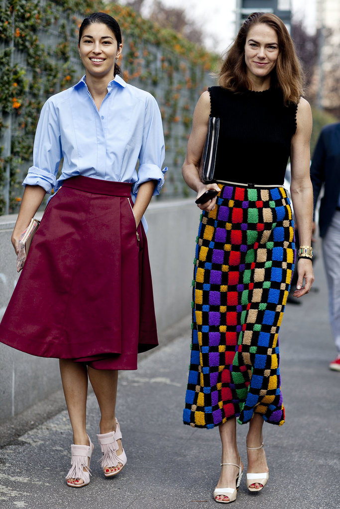 We're all about a bold skirt, whether it's long and skinny or shorter and flared.