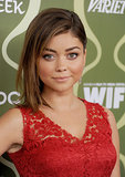 Did Sarah Hyland shave her head? No, the Modern Family star was just sporting a faux undercut at the Variety pre-Emmy party.
