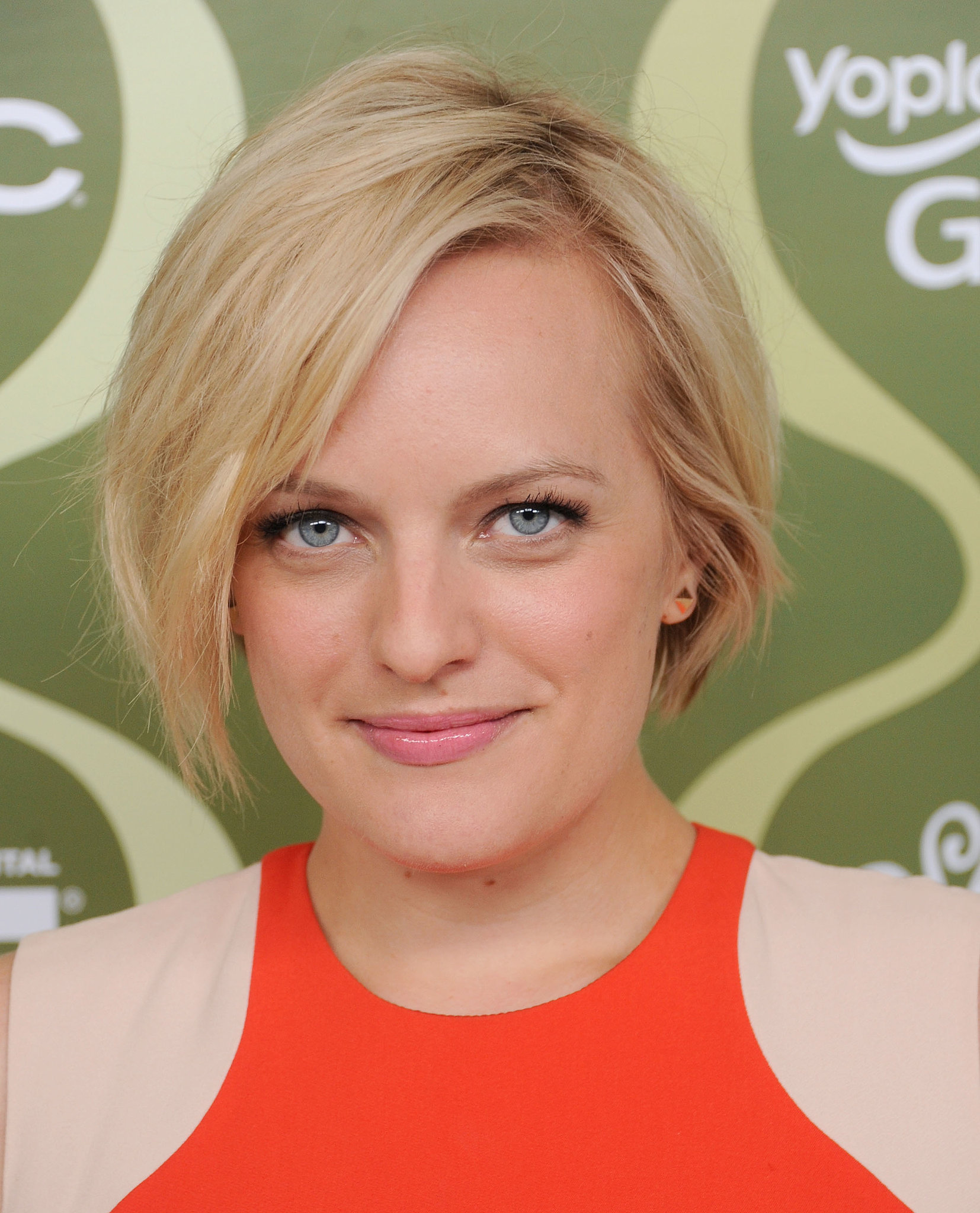 For the Variety pre-Emmy party, Elisabeth Moss styled her short cut in tousled waves, and her make