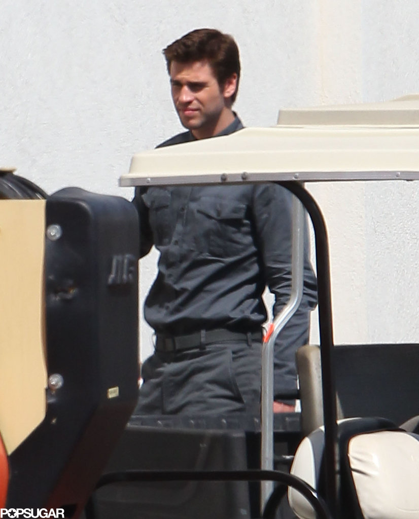 Liam Hemsworth suited up for a day of work.