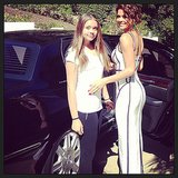 Brooke Burke-Charvet posed with her daughter Neriah before heading off to the red carpet. Source: Instagram user brookeburke