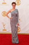Emily Deschanel's custom lace Houghton gown was vegan!