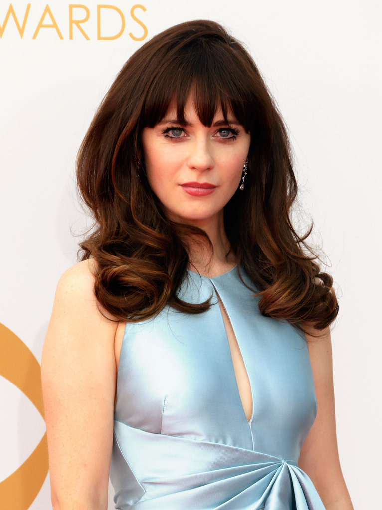 Zooey Deschanel at the 2013 Emmy Awards.
