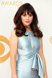 Zooey Deschanel is wearing J. Mendel at the 2013 Emmy Awards.