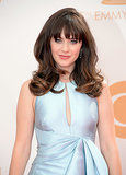 Zooey Deschanel is known for her retro style, and for the 2013 Emmys, she pulled from the 1960s bouffant era. To complete her throwback look, she accentuated her nails with a checkered design.