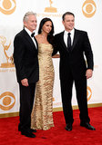 Michael Douglas, Luciana Barroso and Matt Damon