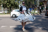 A skirt that was made for stopping traffic.