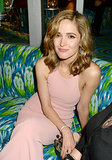 Rose Byrne sat on a couch at the 2013 HBO Emmys afterparty.