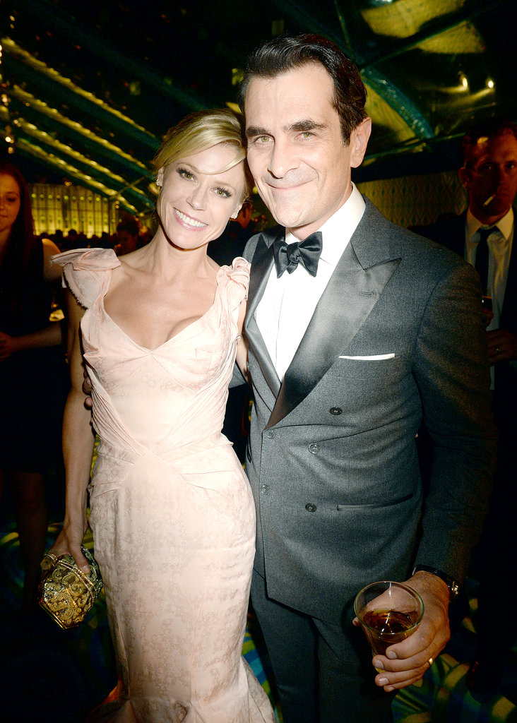 Julie Bowen linked up with her dapper Modern Family costar Ty Burrell at the 2013 HBO Emmys afterparty.