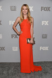 Emma Roberts glowed in a bright Stella McCartney gown at the Fox and FX Emmys afterparty.