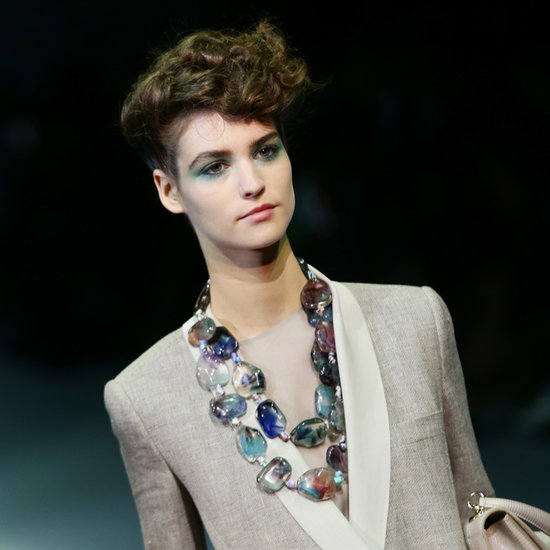 Giorgio Armani Channels '80s Beauty For Spring 2014