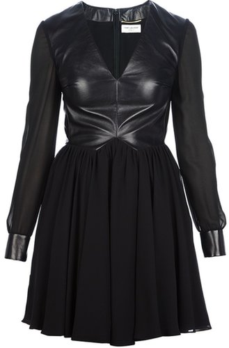 Saint Laurent leather bodice dress