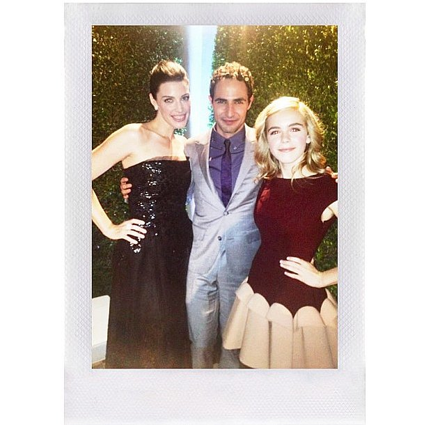 Kiernen Shipka has friends in high and fashionable places, like Jessica Paré and Zac Posen to name a few. Source: Instagram user kiernanshipka