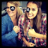 Ahoy matey! Jessica Alba brought her best pirate style to the Honest office. Source: Instagram user jessicaalba