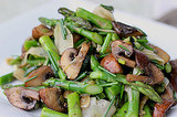 Tuesday: Marinated Mushroom and Asparagus Salad