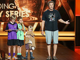 Will Ferrell brought his kids on stage.