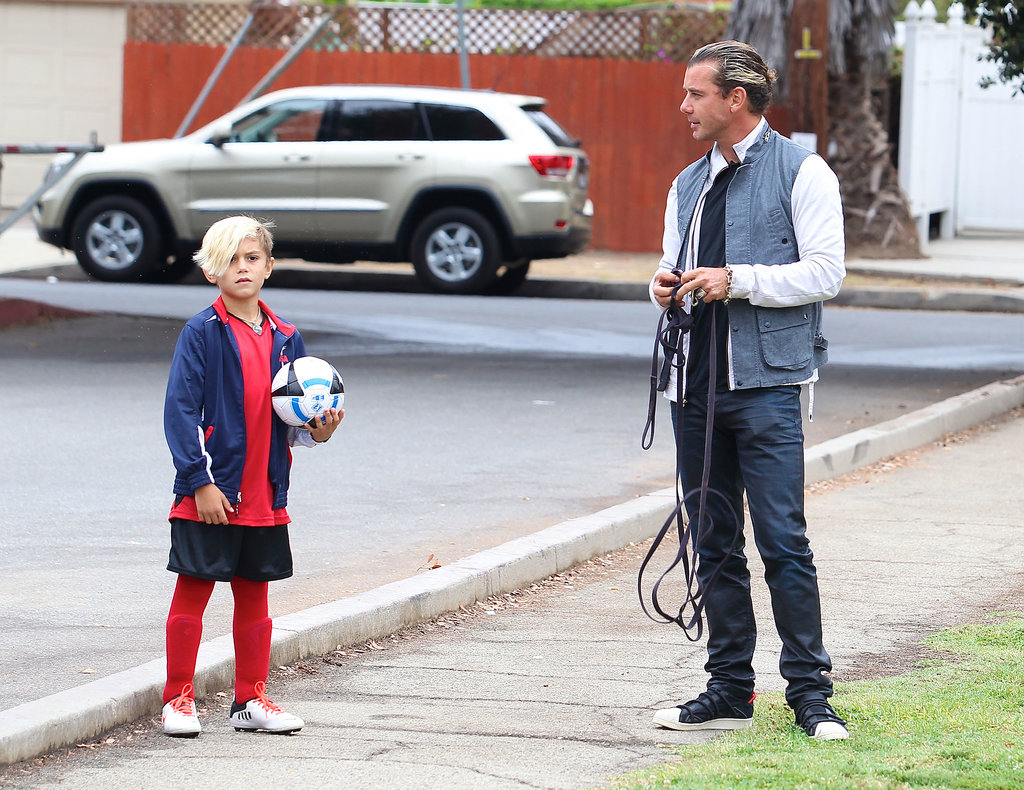 Gavin Rossdale chatted with his son Kingston.