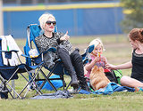Gwen Stefani cheered on her son Kingston at his soccer game.
