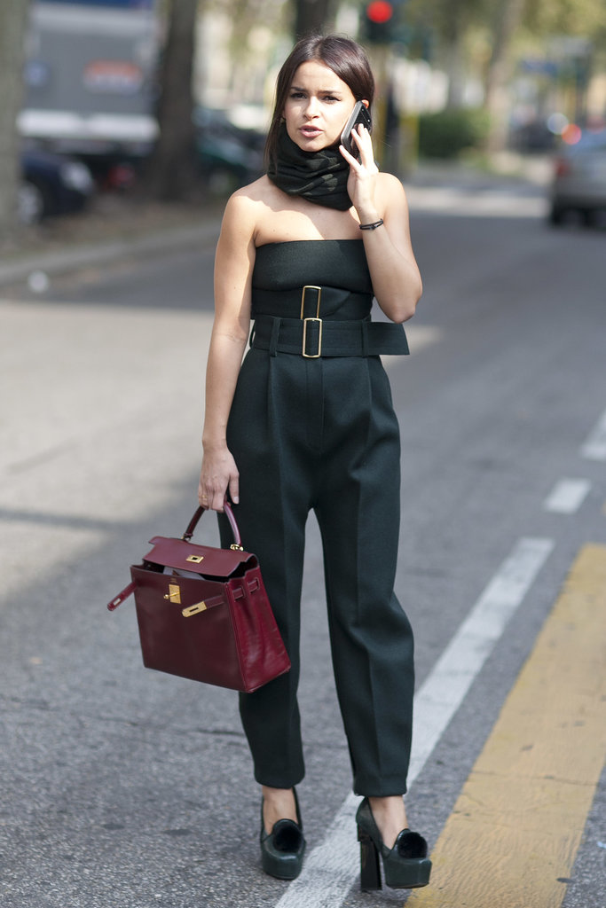 Miroslava Duma proved two belts are better than one.