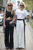 "We love a crop top, but we're kind of obsessed with her friend's ""Célfie"" tee."