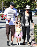 Pink and Carey Hart had a Malibu, CA, breakfast with their daughter, Willow, on Sunday.