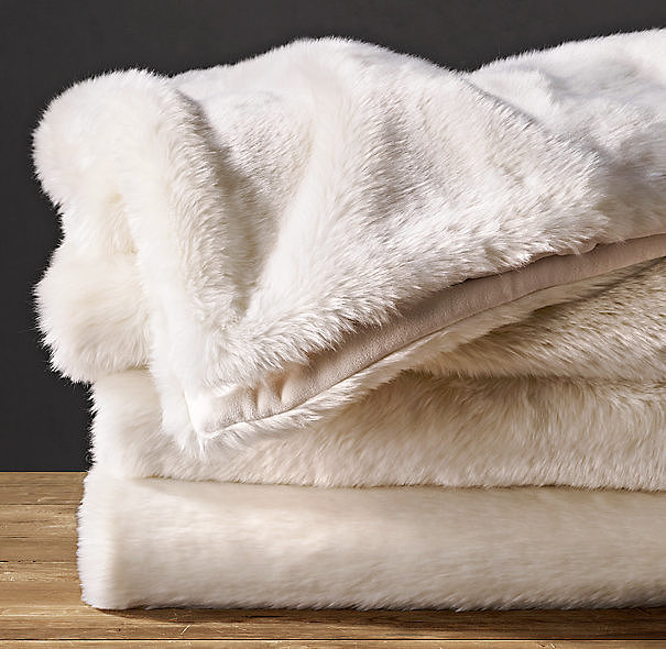 An instant chill-buster, these Luxe Faux Fur Blankets ($249) are unbelievably warm and soft. Keep one folded at the foot of your bed for napping on rainy afternoons.