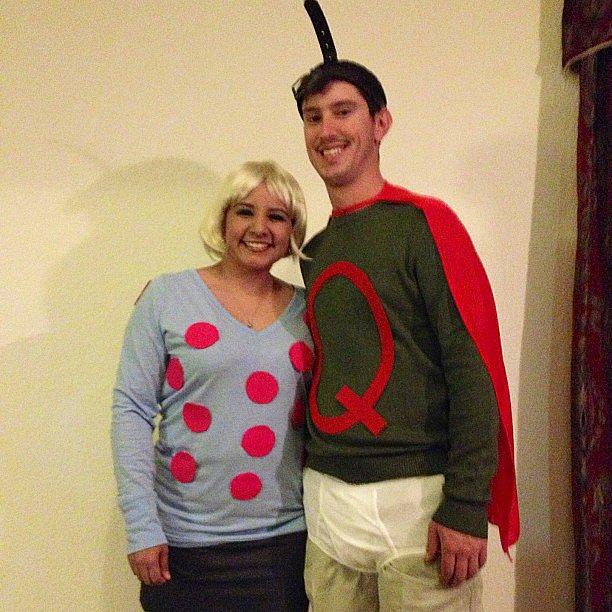 Doug as Quailman and Patti Mayonnaise
