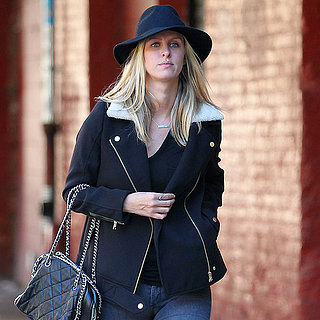 Nicky Hilton Wearing Shearling Jacket