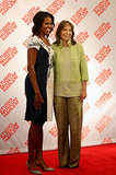 Michelle welcomed Colombian First Lady María Clemencia Rodríguez Múnera.