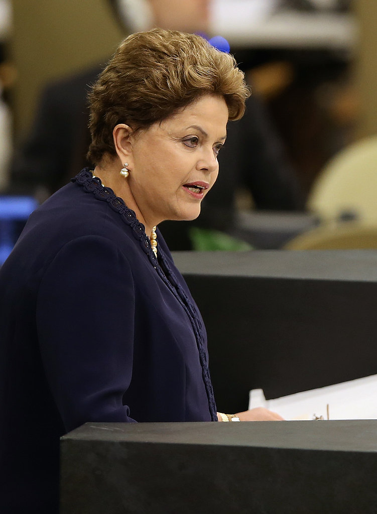Meanwhile in Manhattan, Brazilian President Dilma Rousseff addressed the United Nations General Assembly on Tuesday.
