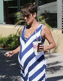 Halle Berry held on to a smoothie.