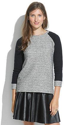 Textured Raglan Pullover
