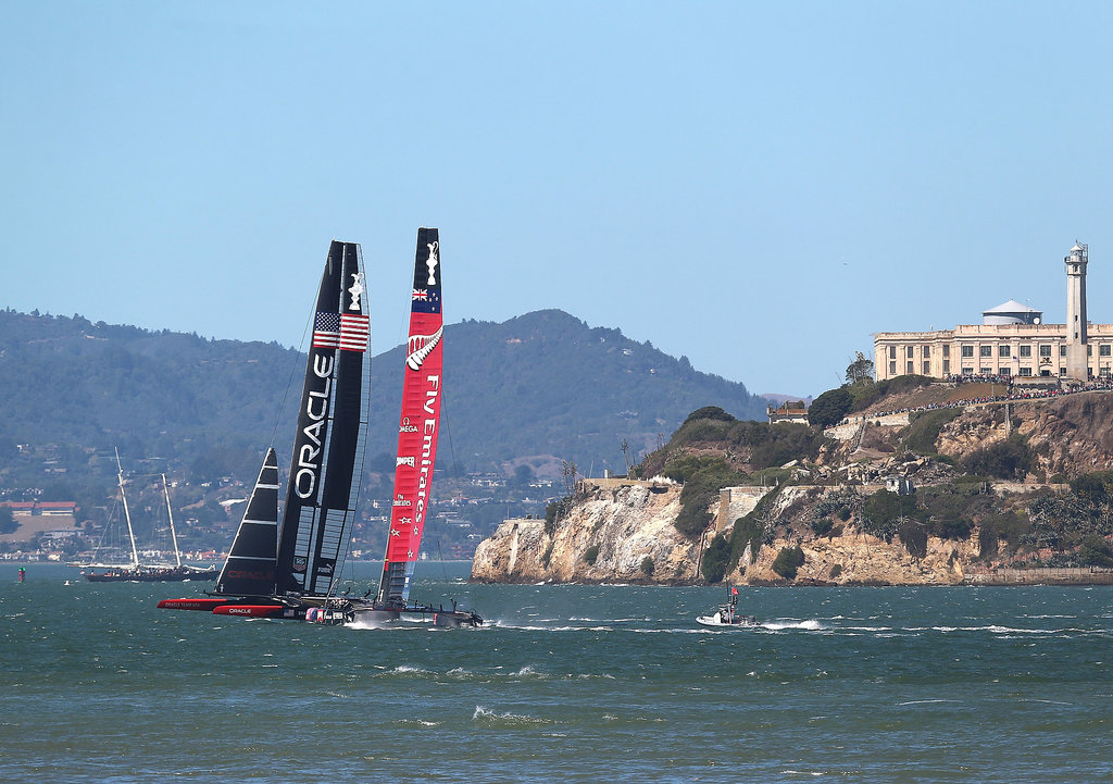 Oracle Team USA took on Emirates Team New Zealand in the America's Cup finals in San Francisco.