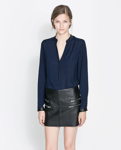 Shirt With Contrasting Collar