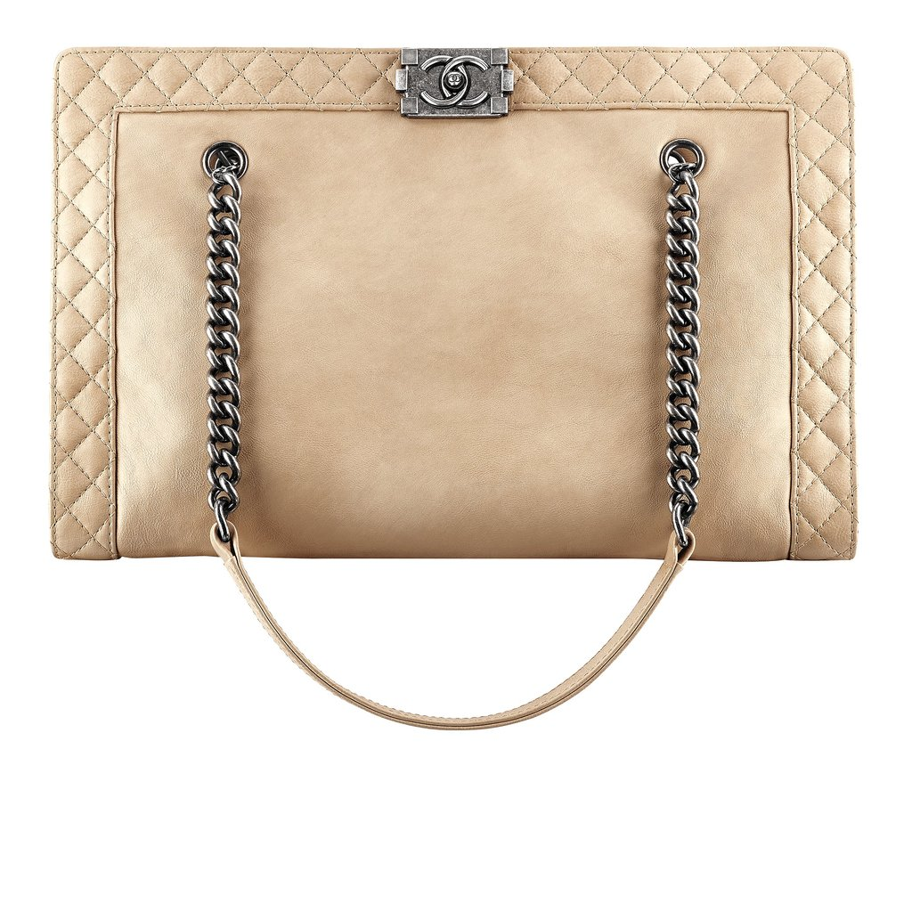 Chanel Beige Leather Shopping Bag With a Boy Lock Photo courtesy of Chanel