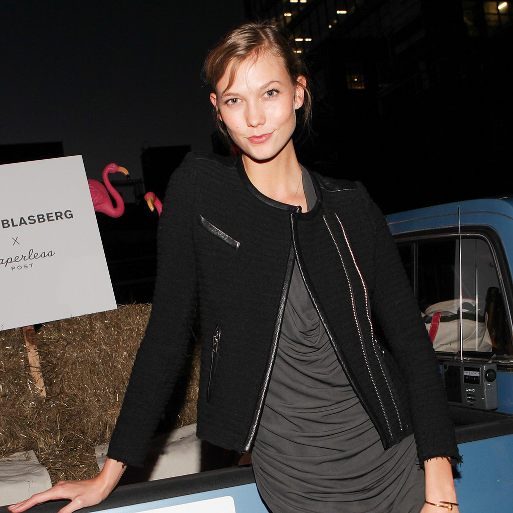Karlie Kloss made fresh-faced beauty look gorgeous at the celebration of Derek Blasberg's new stationary.