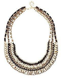 Collier chaînes et rubans