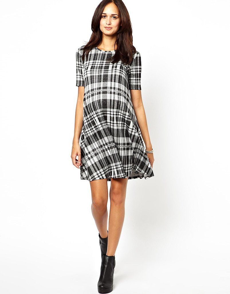 ASOS Check Jacquard Swing Dress