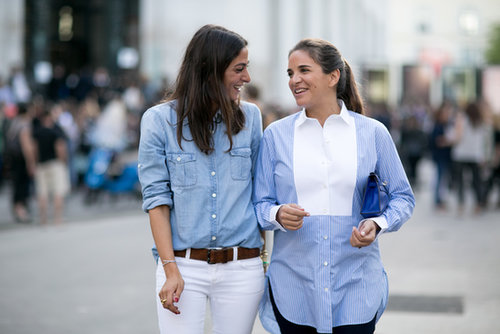 Buddies in button-downs.