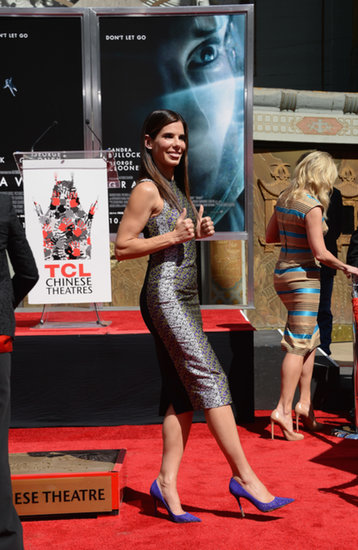 Sandra Bullock struck a goofy pose after the ceremony.