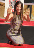 Sandra Bullock celebrated the release of Gravity with a hand- and footprint ceremony at the TCL Chinese Theatre.