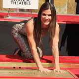 Sandra Bullock Handabdruck in Hollywood