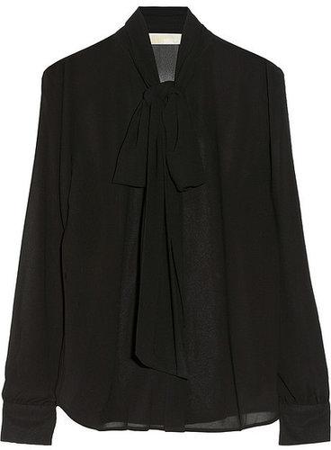 MICHAEL Michael Kors Georgette pussy-bow blouse